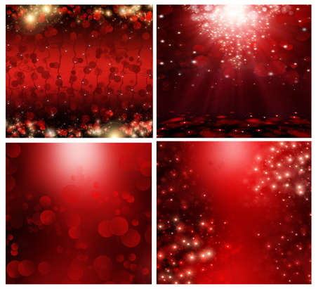 a set abstract christmas background  photo
