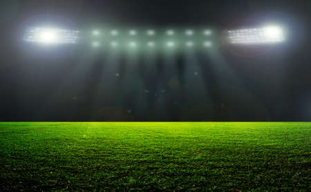 On the stadium. abstract football or soccer backgrounds Фото со стока - 39983702