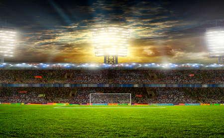 the beginning of a football match Reklamní fotografie
