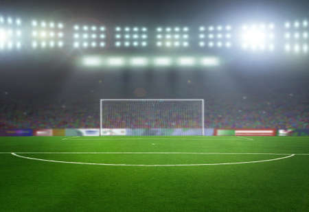 On the stadium. abstract football or soccer backgrounds Stock Photo - 40508761