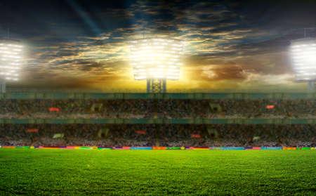 the beginning of a football match Foto de archivo