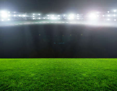 cancha de futbol: En el estadio. abstractos de fútbol o fútbol fondos Foto de archivo