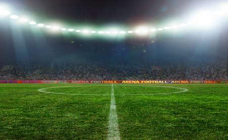 Na stadionie. abstrakcyjne tła piłki nożnej lub Piłka nożna Zdjęcie Seryjne