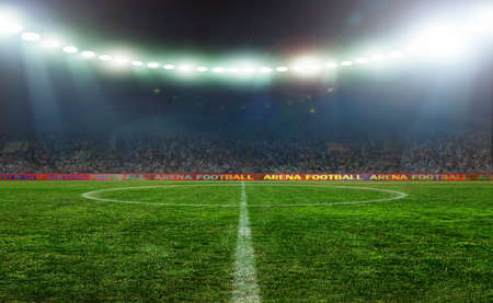 football stadium: On the stadium. abstract football or soccer backgrounds