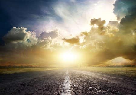 landweg over de steppe