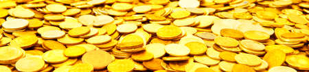 capital: A many gold coins .