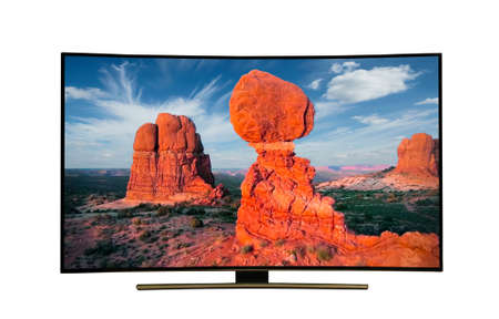 monitor isolated on white. tv with the nature view. USA State of Arizona.