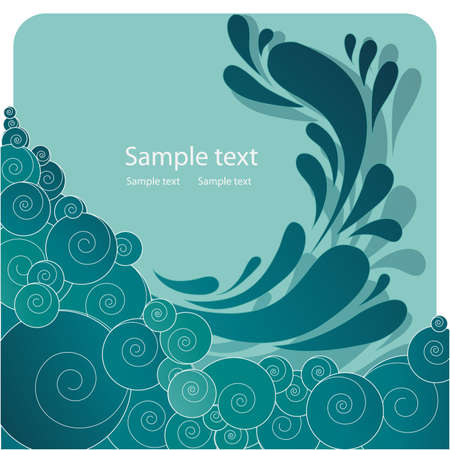 esp cards: abstract background Illustration