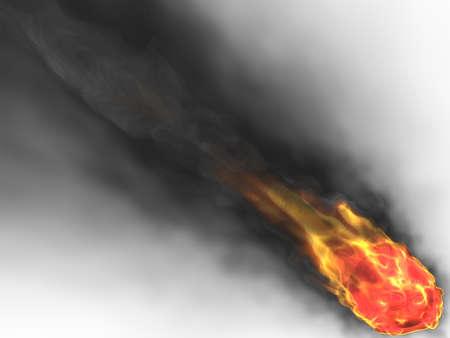 palla di fuoco: fireball 3D Archivio Fotografico