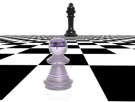 chequer: 3d chess figure and chequer