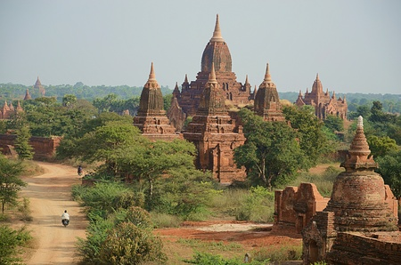 Old buddhist temples of Bagan, Myanmar Editorial