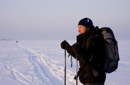 Cross-country skier photo