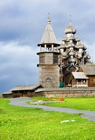 Wooden churches on island Kizhi, North Russia  photo