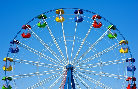 Ferris wheel on the sky background photo