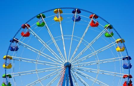 Ferris wheel on the sky background Stock Photo