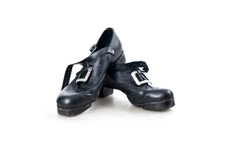 tap dance: Shoes for irish dancing on the white background