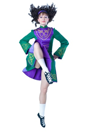 Irish dancing Stock Photo