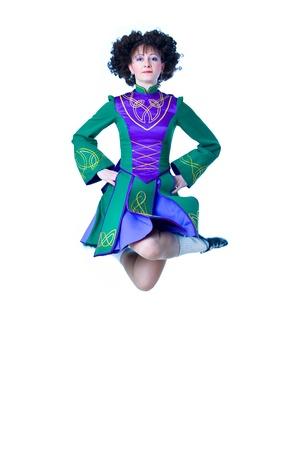 Irish dancer jumping photo
