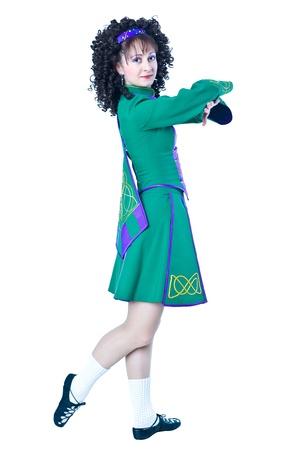 Irish dancer posing Stock Photo - 12313811