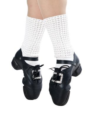 Legs in shoes for irish dancing  Zdjęcie Seryjne