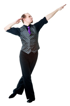 Irish dancer posing photo