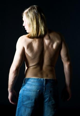 Back of athlete man Stock Photo - 13051690