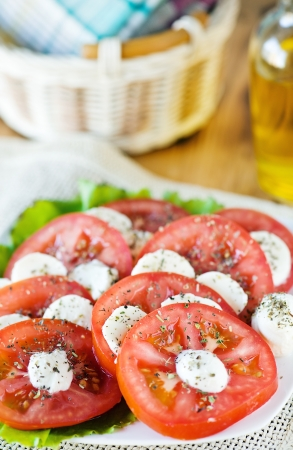Tomato and mozarella salad  photo