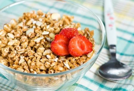 Muesli with strawberry photo