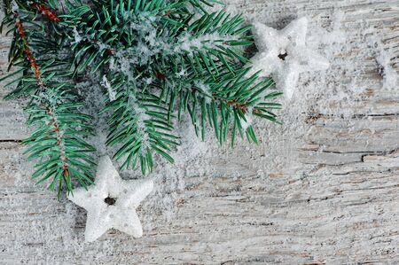 Christmas background with fir branch  Stock Photo - 15869420