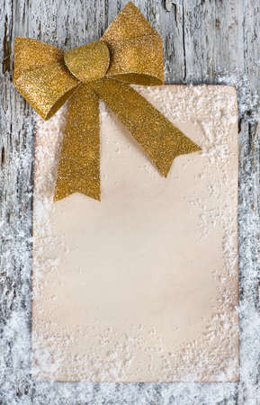 Christmas congratulation card with snow Stock Photo - 16306980