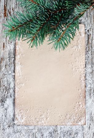 congratulation card: Christmas congratulation card with fir branch  Stock Photo