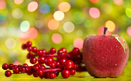 Christmas shiny decoration on the bokeh background photo
