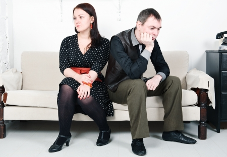 Family conflict between man and woman Stock Photo - 16882021