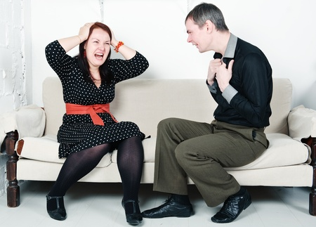 Family conflict between man and woman Stock Photo - 16882020