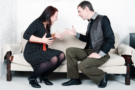 Family conflict between man and woman Stock Photo - 16882023
