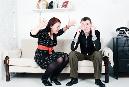 Family conflict between man and woman Stock Photo - 16890873