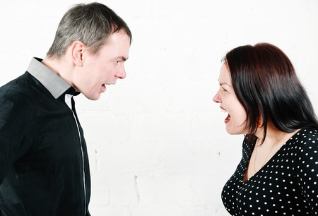 Family conflict: man and woman screaming Stock Photo - 17276841