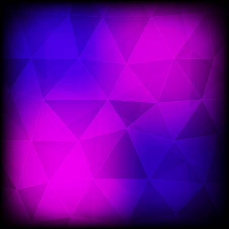 Blue and purple abstract background with frame  Vector