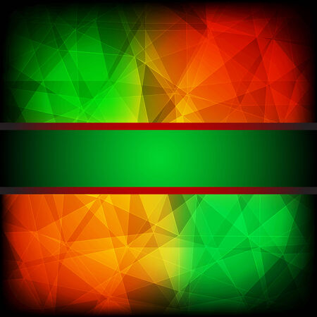 red abstract background: Green and red abstract background with frame