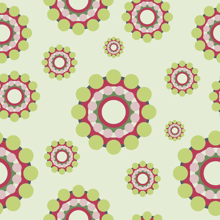 Abstract colorful circles retro style seamless pattern EPS10 vector Vector