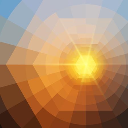 Abstract vierhoek De kleurrijke glanzende vector achtergrond EPS10 Stockfoto