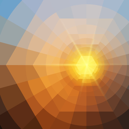 Abstract quadrangle colorful shining vector background EPS10 Standard-Bild