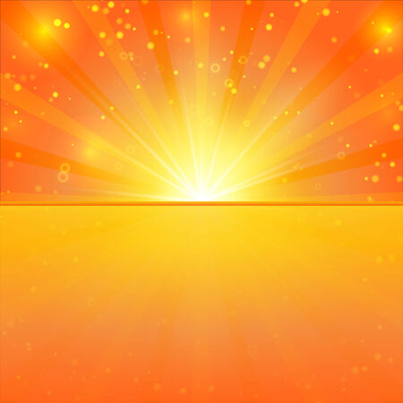 sunshine background: Abstract sunshine background with lights, bokeh and place for text