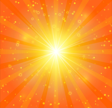 sunshine background: Abstract sunshine background with lights and bokeh