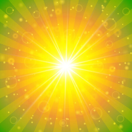 sunshine background: Abstract summer sunshine background with lights and bokeh  Illustration
