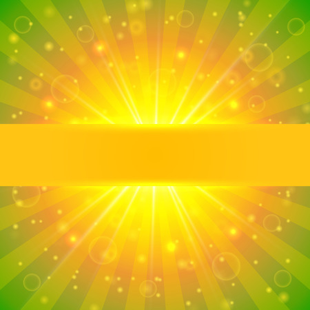 sunshine background: Abstract vector summer sunshine background with lights and bokeh