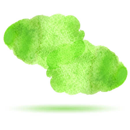 dabs: Abstract green watercolor background with brush stroke isolated Illustration