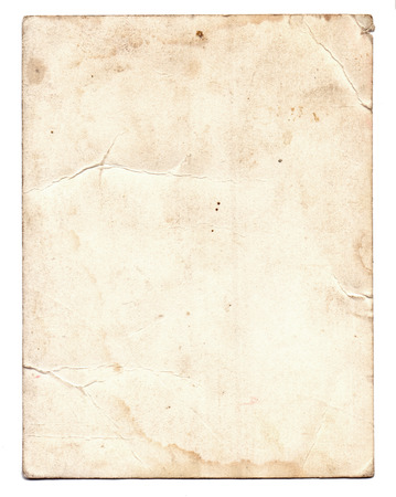 vintage torn paper: Old photo texture with stains and scratches isolated Stock Photo