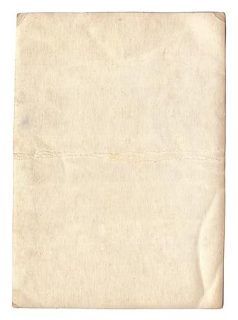 papel de notas: Vieja textura de la foto con manchas y ara�azos aislados Foto de archivo
