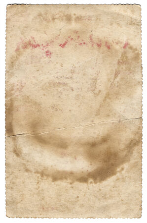 Old photo texture with stains and scratches isolated photo